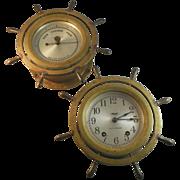 Seth Thomas Ship's Clock and Barometer