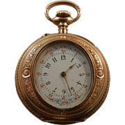 Lady's 14k Yellow Gold Victorian Pocket Watch