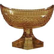 Bohemian Amber Glass Footed Bowl