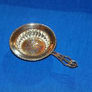 Tea Strainer. American Sterling Silver. Circa 1920.