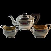 Three Piece English Sterling Tea Set Sheffield 1909