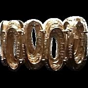 Vintage Ciner Modernist Bracelet with Rhinestones