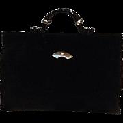 VIntage Lagerfeld Huge Velvet Attache Case/Tote/Handbag....NEVER WORN