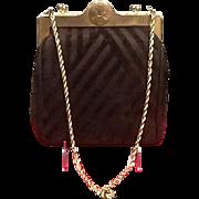 Vintage Roberta Di Camerino Cut Velvet Evening Bag