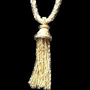 Vintage Grosse Necklace with Tassel