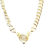 Vintage Givenchy Logo Medallion Necklace