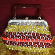 SOLD **Vintage Beaded Purse with Lucite Frame**