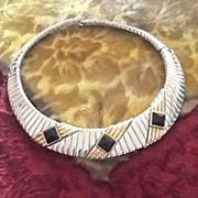 Vintage Modernist Designer Alexis Kirk Choker Necklace