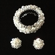 """SALE VIntage """"Cha Cha"""" Aurora Borealis Bracelet and Earrings"""
