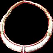 """Vintage Grosse """"Dior"""" Designer Choker Collar Necklace"""