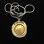 SALE PENDING Vintage Rosenstein Statement Medallion Necklace!