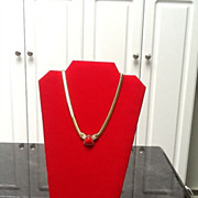 SALE ***SALE***Vintage Givenchy Necklace with Resin and Rhinestone Design
