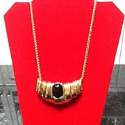 Vintage Ciner Slider Necklace with Gripoix Statement Piece