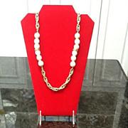 SALE Vintage Givenchy Necklace with Lucite Decorative Balls