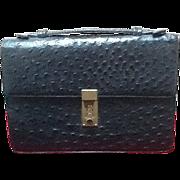SOLD ***SALE***Vintage Custom Made Ostrich Petite  Briefcase/ Handbag
