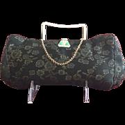Vintage Silk Brocade Purse with Jemco Art Deco Style Frame
