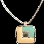 SALE Vintage Modernist Lanvin Pendant Necklace