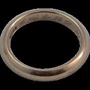 SALE Men's 14K Yellow Gold Wedding Band Engraved 1913 size 11.75