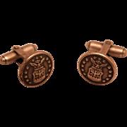 SALE Vintage Patriotic Silvertone Cuff Links