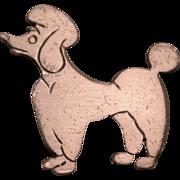 SALE 1950's Beau Sterling Silver Poodle Brooch