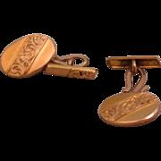 SALE Vintage Gold Filled Repoussé Cuff Links