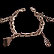 SALE Sterling Silver Music Themed Charm Bracelet
