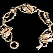 SALE Napier Gold Washed Sterling Silver 8 inch Leaf Bracelet