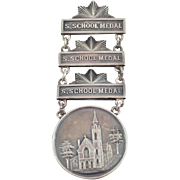 1897 Church of the Redeemer Sterling Silver Sunday School Medal