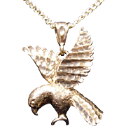 Unisex Sterling Silver Eagle Pendant WITHOUT Chain