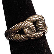Sterling Silver Textured Link Band Ring size 8