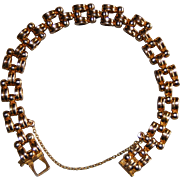 French 1940's Art Deco Gold Filled Tank Murat Bracelet