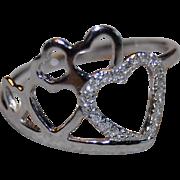 18k White Gold Heart Shape Diamond Ring