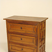 Continental walnut and pine chest of drawers