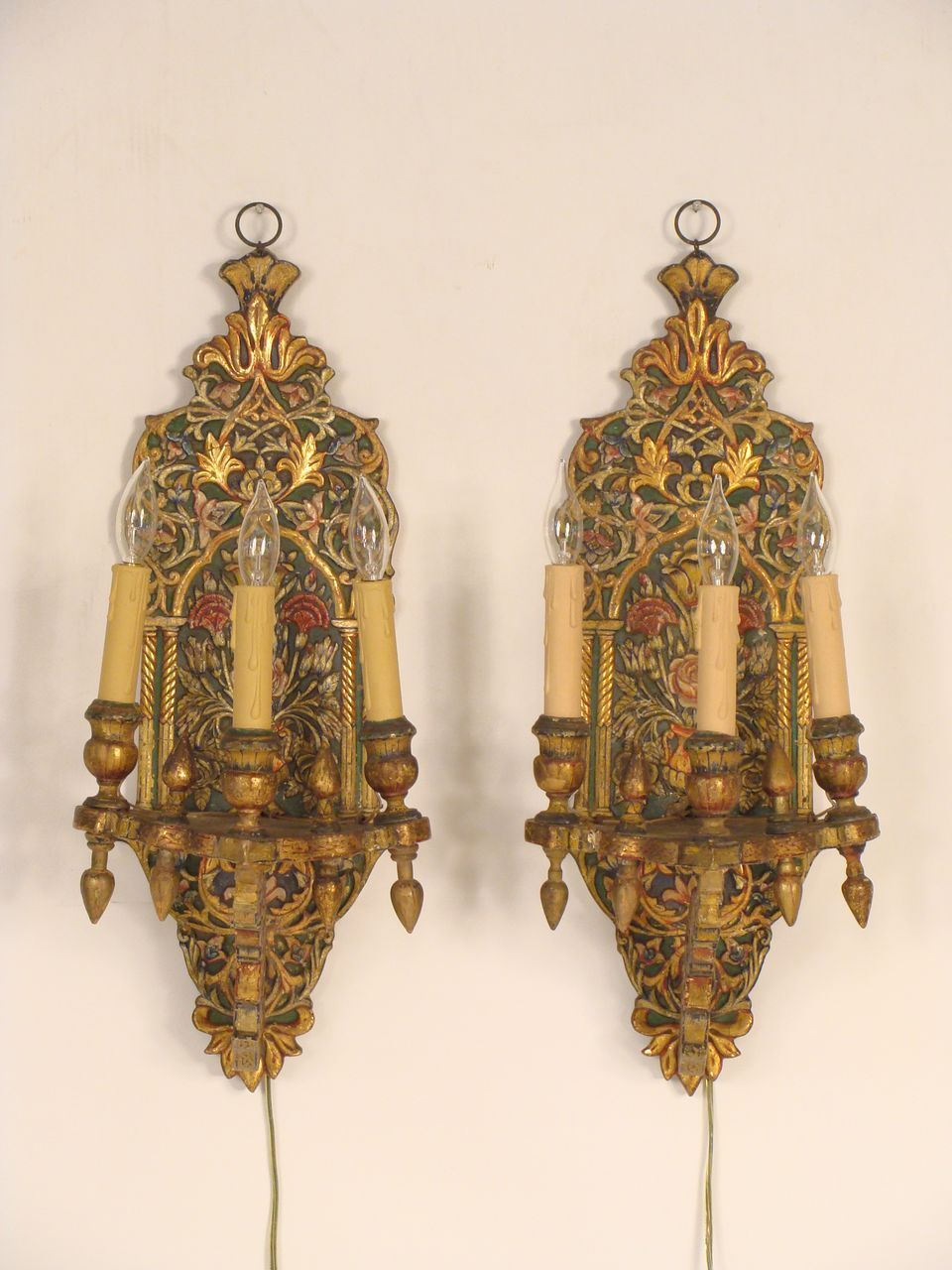 Moroccan Wall Lights Silver : Moroccan wall sconces from nicholsonsantiques on Ruby Lane