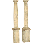 Pair of painted columns