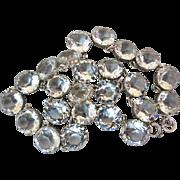SALE Antique Edwardian Sterling Riviere Open Back Paste Crystal Necklace