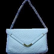 SALE Gorgeous Caprice Faux Ostrich Summer Clutch Shoulder Bag