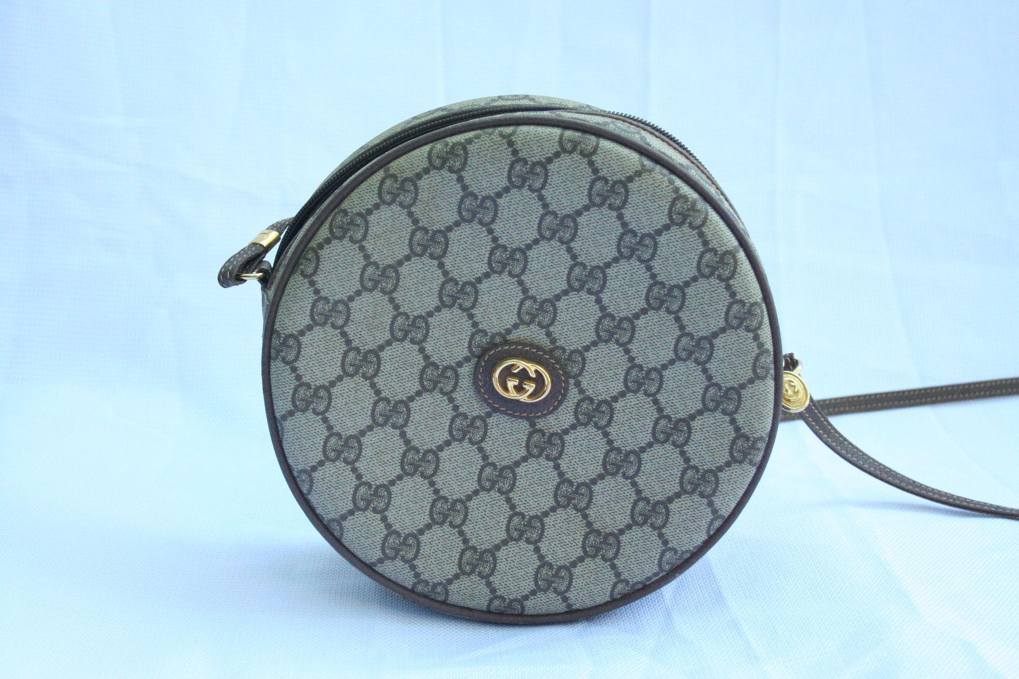 Vintage Gucci Monogram Canteen Crossbody Purse Beautiful Condition