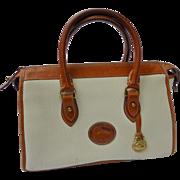 SALE Vintage Dooney & Bourke Made in USA All Weather Leather Doctor Satchel Handbag
