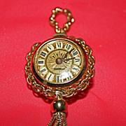 SALE Gorgeous Endura Vintage Watch Pendant Faux Turquoise & Pearls