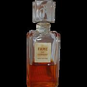 SALE Rare 1947 FAME De Corday Perfume in Original Crystal Stop