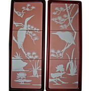 SALE Franklin Mint Pair Parian Tile Wall Plaques Tranquil Waters by George McMonigle