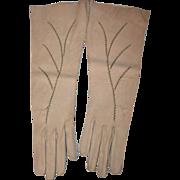 SALE Sz 6 3/4 Vintage Juliette Kidskin Artistically Stitched Gloves