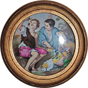 SALE Enamel Plaque The Pie Eaters Boys & Dog After Murillo