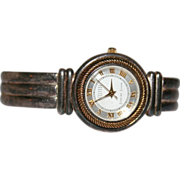 SALE Solid Sterling Ecclissi Ladies Watch Mother of Pearl Face