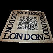 SALE Iconic London Vintage Silk Scarf by Harrods