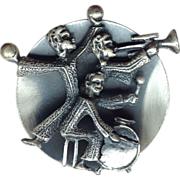 SALE Handcrafted Latin Jazz Band Brooch