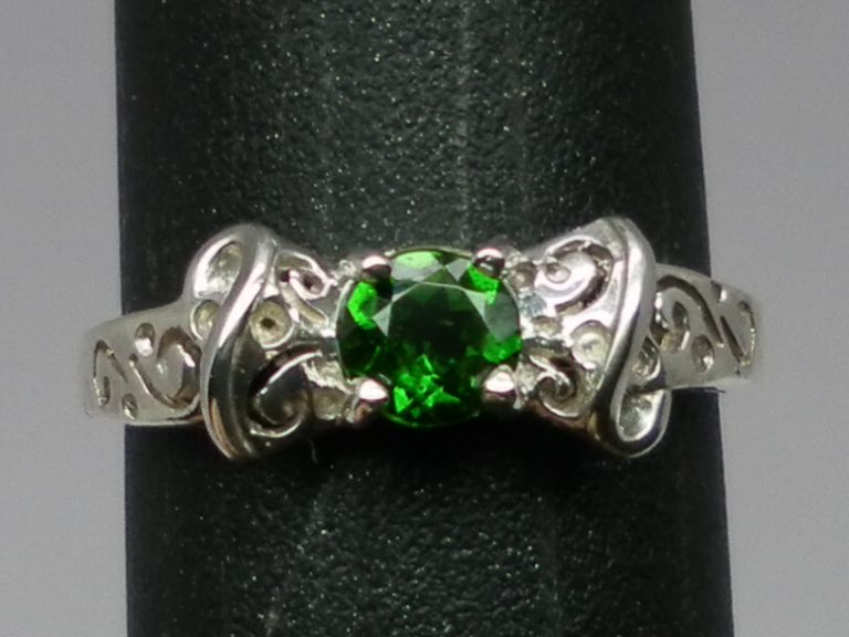 Vintage 14kt Chrome Diopside Ring; FREE SIZING