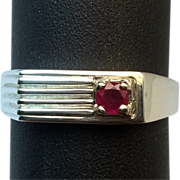 SALE Natural Untreated Ruby 14k Men's Ring. FREE SIZING