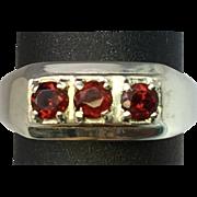 SALE 14k Garnet Men's Ring